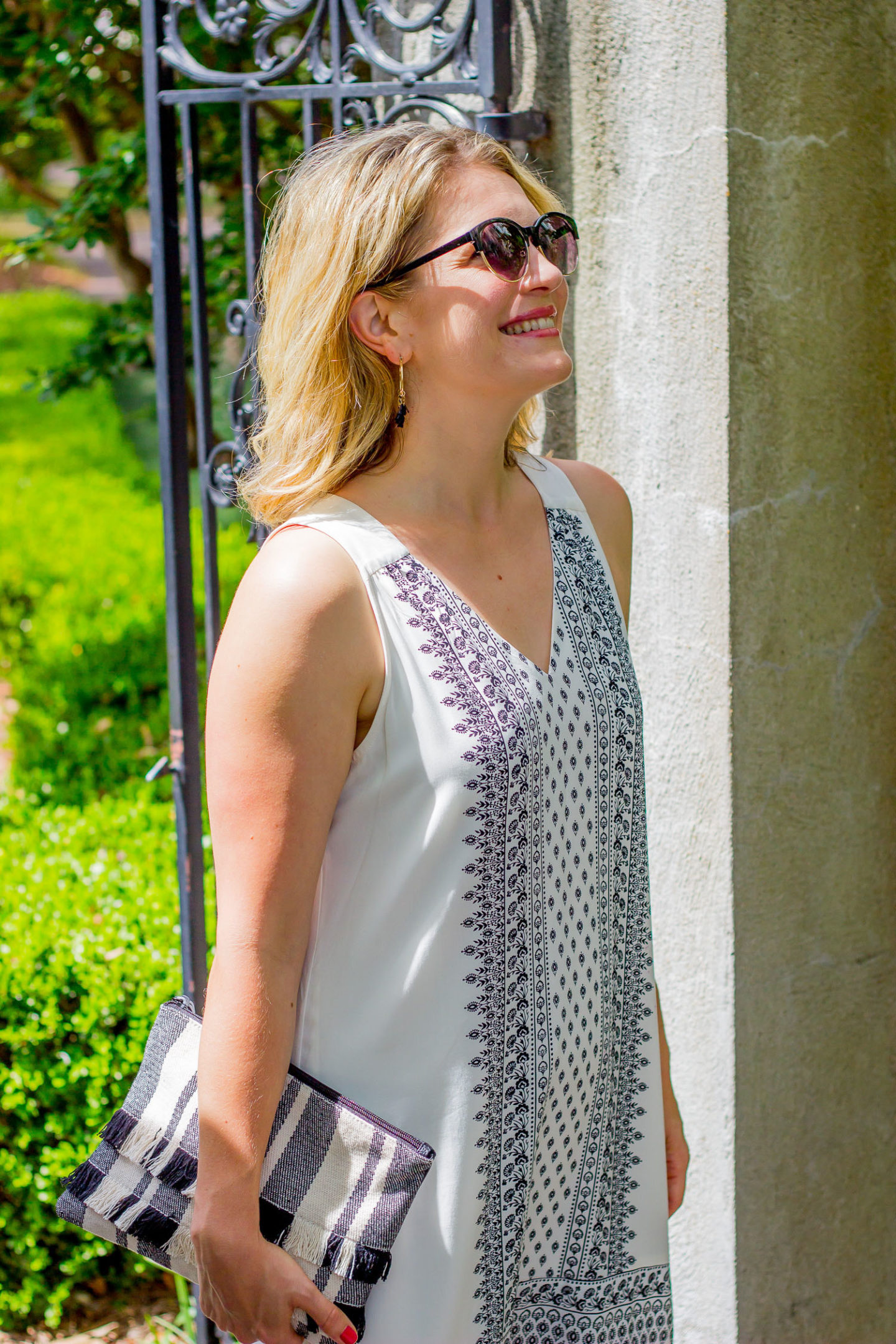 Summer white dress by Old Navy worn by Elise Giannasi