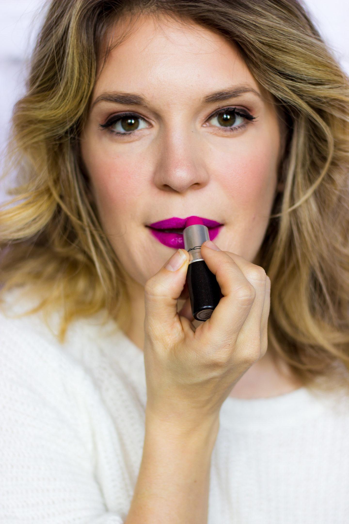 Dark Lipstick Tutorial on Belle Meets World blog